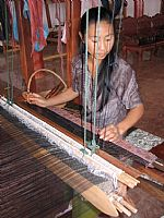 Photo 9 of our Laos brocade wallhanging