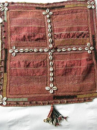 Photo of our Banjara stitched and tasselled square