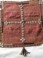 Banjara stitched and tasselled square