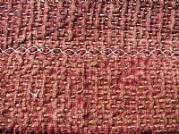 Photo 6 of our Banjara stitched and tasselled square