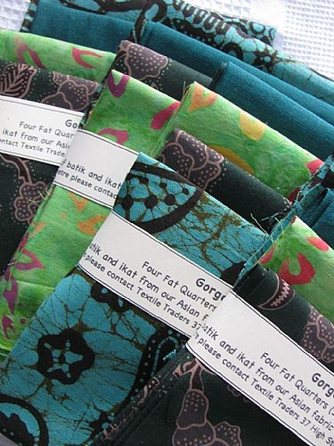 Photo of our Gorgeous Greens 4 fat quarters