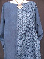 Round necked indigo tunic (in sizes M/L and L/XL)