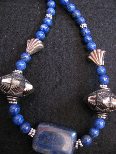 Photo of our Lapis necklace