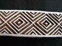 Photo 2 of our African diamonds border printing block