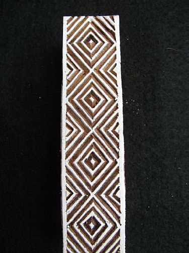 Photo of our African diamonds border printing block