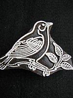 Asian starling printing block