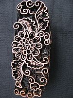 Photo of our Flower, leaves and spirals copper stamp