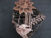 Photo 4 of our Flower and bird copper stamp
