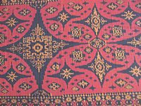 Photo 4 of our Burgundy and Black ikat fabric