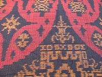 Photo 5 of our Burgundy and Black ikat fabric