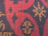 Photo 6 of our Burgundy and Black ikat fabric