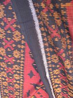 Photo 7 of our Burgundy and Black ikat fabric