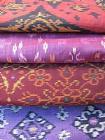 Photo 9 of our Burgundy and Black ikat fabric