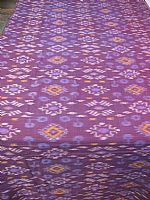 Aubergine and mauve ikat fabric