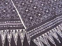 Photo 4 of our Deep indigo blue traditional batik