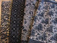 Photo 6 of our Deep indigo blue traditional batik