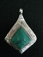 Photo 2 of our Afghan Green Turquoise pendant