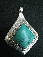 Photo of our Afghan Green Turquoise pendant