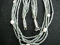 Photo 3 of our Five strand serpentine necklace