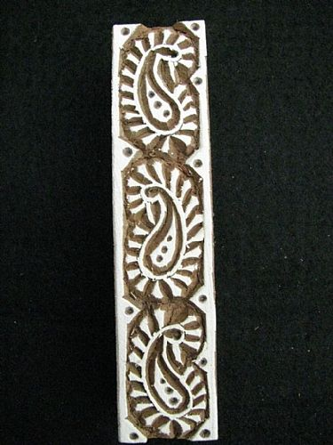 Photo of our Paisley border printing block
