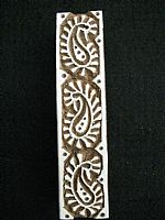 Photo 1 of our Paisley border printing block