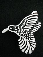 Humming bird printing block