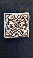 Flower in a square printing block