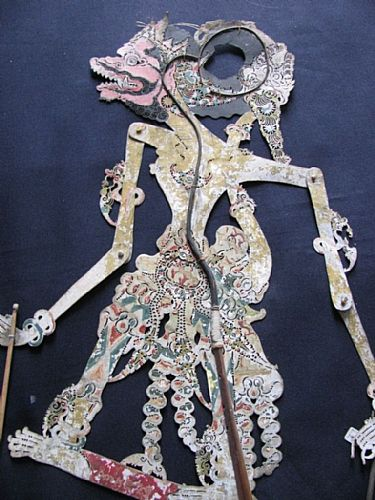 Photo of our Subali - Javanese shadow puppet