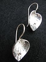 Lotus leaf silver earrings