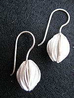 Photo 4 of our Silver seed pod design earrings