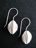 Photo 1 of our Silver seed pod design earrings