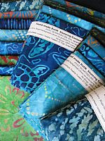 Spectacular Batik Colours of the Ocean 4 fat quarters