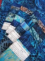 Photo of our Spectacular Batik Colours of the Ocean sample set