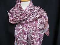 Photo 2 of our Batik Silk Scarf - Lilacs and Mauves