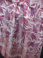 Photo 4 of our Batik Silk Scarf - Lilacs and Mauves
