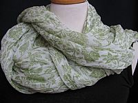 Photo 5 of our Crepe de Chine Crinkle Shawl in Pistachio or Lavender