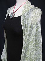 Photo 1 of our Crepe de Chine Crinkle Shawl in Pistachio or Lavender