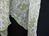 Photo 7 of our Crepe de Chine Crinkle Shawl in Pistachio or Lavender
