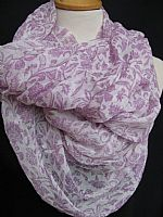 Photo 2 of our Crepe de Chine Crinkle Shawl in Pistachio or Lavender