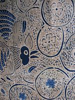 Vintage Javanese Batik Chickens and Eggs Design