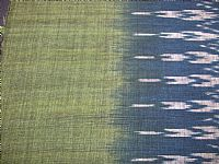 Photo 2 of our Indigo and leaf green ikat