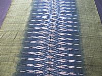 Photo 3 of our Indigo and leaf green ikat