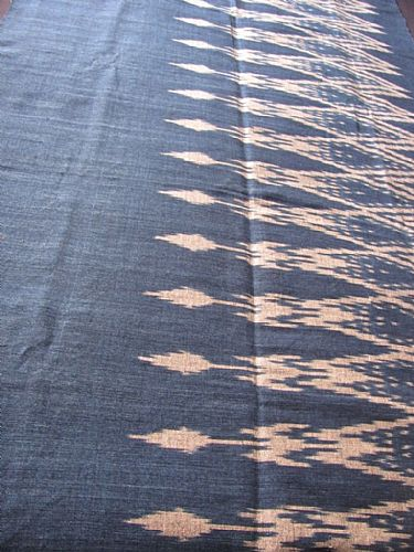 Photo of our Deep indigo blue ikat