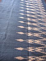 Photo 1 of our Deep indigo blue ikat